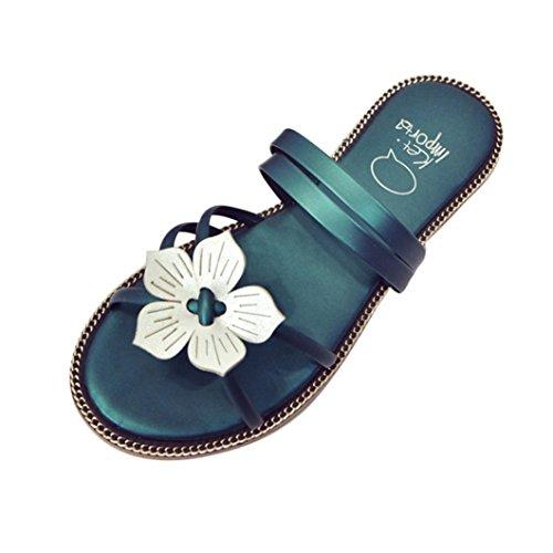 Transer® Damen Slipper Weiß Blume Microfiber Leder Heißes Rosa Grün Schwarz Rosa Hausschuhe (Bitte achten Sie auf die Größentabelle. Bitte eine Nummer größer bestellen. Vielen Dank!) Grün