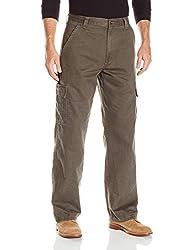 Wrangler Mens Authentics Classic Cargo Twill Pant, Olive Drab, 36x34