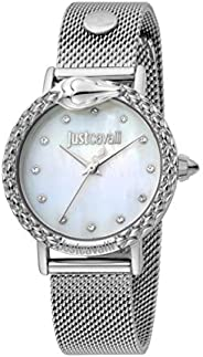Just Cavalli Animalier Women's Mother of Pearl Dial Stainless Steel Analog Watch - JC1L124M