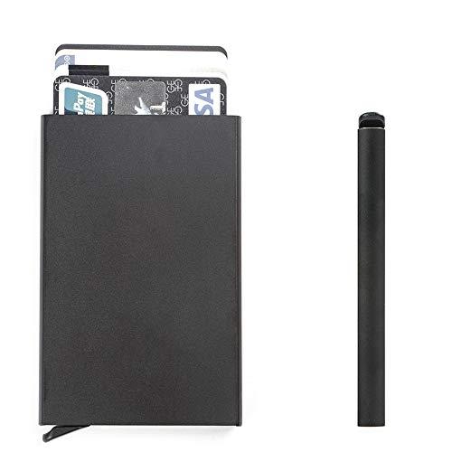 Aluminiumlegierung funktion karte fall visitenkartenhalter männer frauen kreditkarte fall id reisepass brieftasche - Frauen Kreditkarte Brieftaschen