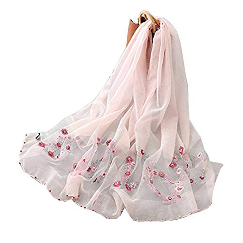 TIANLU Maulbeerseide Schal Maulbeerseide Weiblichen Sommer Sonne Seide Pearl Lang Wolle, Seide Schal Frauen am Besten für Geschenk Schal Dual-Use, Pink, 85 * 195 cm