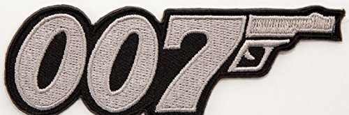 d Patch 9 cm Embroidered Iron on Badge Aufnäher Kostüm Cosplay (James Bond Kostüme)