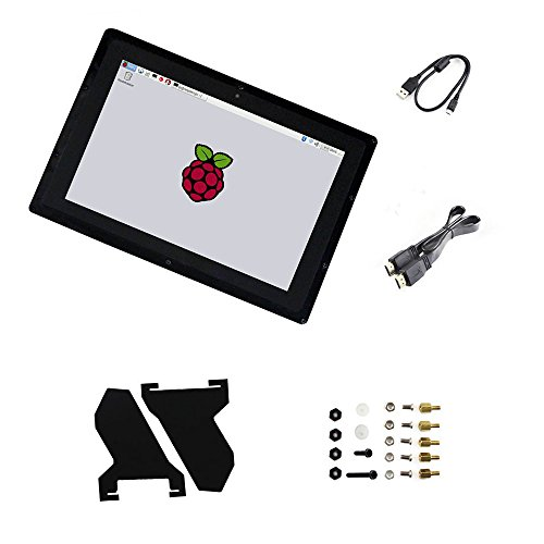 10.1inch B Capacitive Touch Screen HDMI LCD with Case EU Power Adapter IPS 1280*800 Windows 8.1/8/7 for Raspberry Pi2/3 Model B/B+ Supports Multi mini-PCs