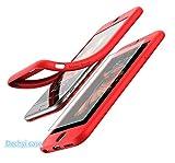 DECHYI Coque iPhone 7- Couvercle Avant Ultra Mince à 360° Housse de Protection en Silicone Pleine Protection du téléphone, (4.7'-Rouge)