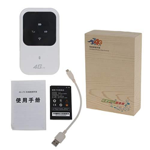 JUNESUN Router WiFi 4G Sbloccato 3G 4G LTE Router Wireless Portatile WiFi Hotspot Mobile Router Wi-Fi con Slot per schede SIM con Display B1 / 3 (2100 / 1800Mhz)