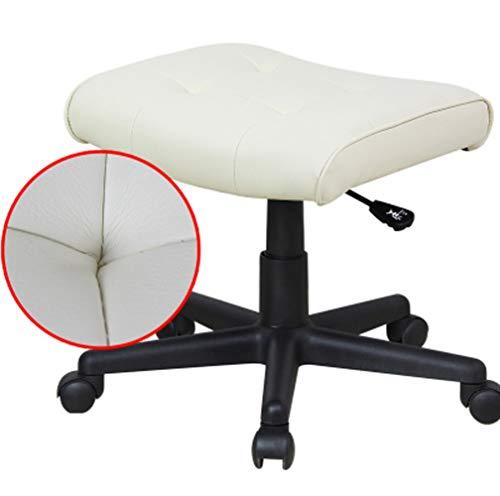 MMWYC Salon Nail Pedicure Hocker Pedicure Chair Pneumatisch, einstellbar, rollende Salonmöbel und -ausrüstung / 17.7x16.5x17-20.8inches (Color : White) -