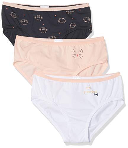 Schiesser Mädchen Multipack 3pack Slips' Unterhose, Mehrfarbig (Sortiert), (Herstellergröße: 104) (3erPack)
