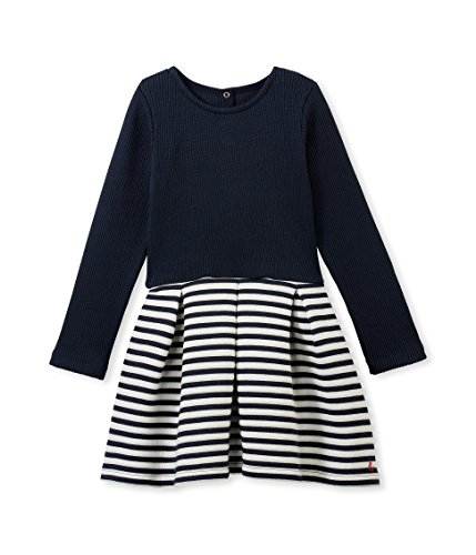 PETIT BATEAU Derby, Vestito Bambina, Smoking/Coquille N57, 3A