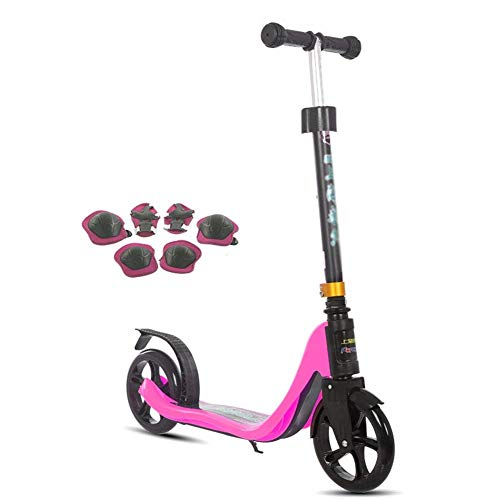 LQQGXL-Scooter Kinder treten Roller Junior Roller, Tretroller, Kinder Roller (Color : Pink)