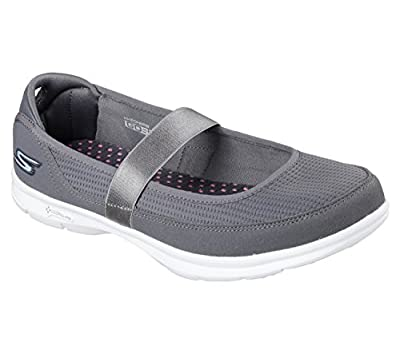Skechers Go Step Original Womens Mary Jane Sneakers Charcoal 6.5