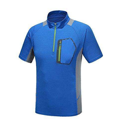 Walk-leader - maglietta sportiva - stand  - maniche corte  -  uomo blue x-large