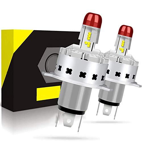 Set iniziale di 2 lampadine H4 LED da 10400 lm per fari auto Fascio principale e anabbaglianti Kit di ricambio per lampadine alogene e allo xeno 12 V-24 V 6000 K Bianco