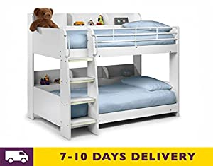 Julian Bowen Domino 3ft All White Bunk Bed