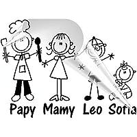 STICKEREDO Adesivo famiglia a bordo personalizzabile, family sticker, adesivo bimbo a bordo