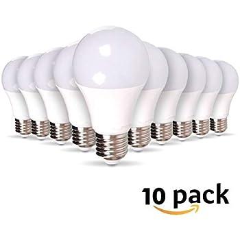 size 40 5b877 bae08 Lot de 10 Ampoules LED E27 9W equivalentce 60W 806lm - Blanc froid 6400K,  Non-Dimmable