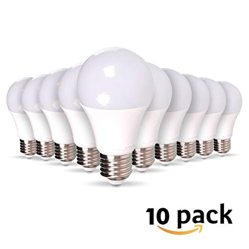 Lot de 10 Ampoules LED E27 9W equivalentce 60W 806lm, Non-Dimmable ... (Blanc Chaud)