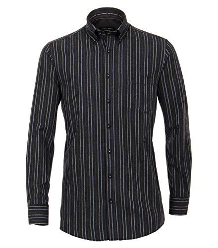 CASAMODA Herren Flanell Hemd gestreift Comfort Fit