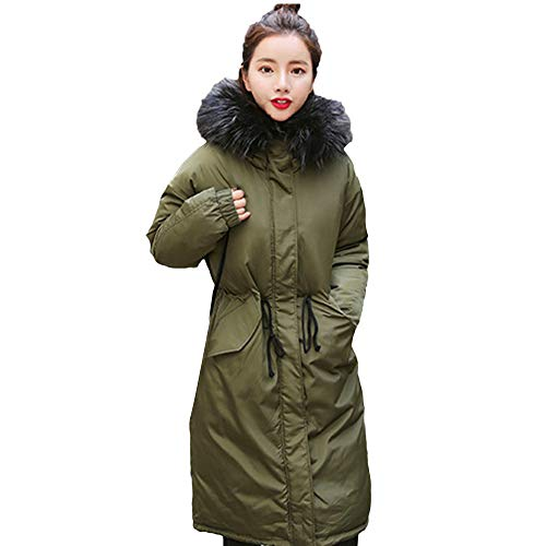 JURTEE Clearance Sale Fashion Womens Coats Ladies Solid Thicker Winter Slim Warm Hooded Jacket Hair Collar Coat Overcoat