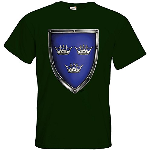 getshirts - Das Schwarze Auge - T-Shirt - Die Siebenwindküste - Wappen - Albernia Bottle Green