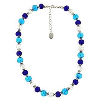 Venetiaurum – Halskette aus Muranoglas und 925 Silber zertifiziert made in Italy