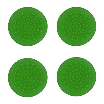4x Assecure TPU protective analogue thumb grip stick caps for Xbox 360 controllers - Green from Assecure