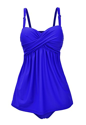 i Plus Size Tankini Bauchweg, M-4XL (Womens Plus)