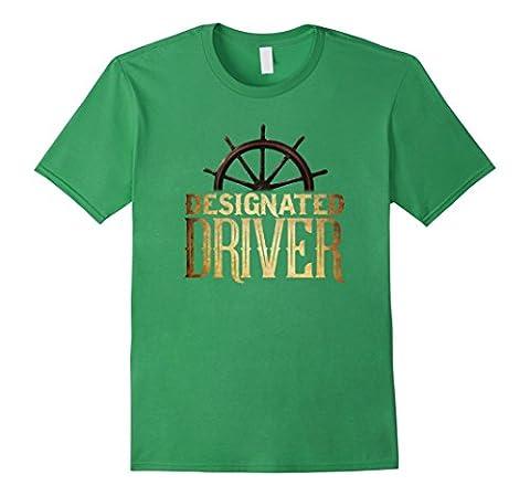 Men's PREMIUM Designated Driver Boating T-shirt Medium Grass