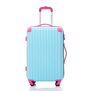 "Travelhouse 20"" 24"" 28"" Hard Shell ABS Wheeled Suitcase Travel Hand Luggage Bag NEW"