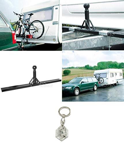 Zisa-Kombi Deichseladapter Caravan, Aufnahme für Fahrradträger (93298844248) mit Anhänger Hlg. Christophorus