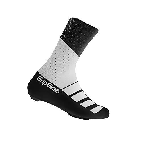 GripGrab Radsport RaceAero TT Raceday Lycra Rennrad Überschuh Weiß/Schwarz M (41-44)