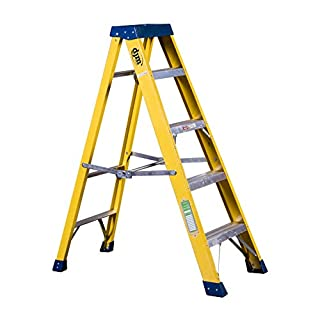 DJM Direct Electricians Heavy Duty Tread EN131 Fibreglass Step Ladder 30000v - 5 Tread