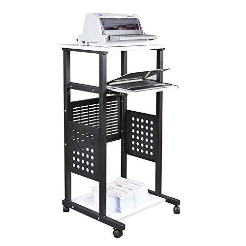 Tische MEIDUO Mobile Stand Up Schreibtisch Computer Work Station Rolling Computertisch (größe : Height 101cm)