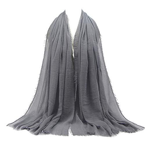 Dorical Muslimische für Damen Frauen Hijab Kopftuch Islamische Kopfbedeckung 90 x 180 cm, Baumwollmischung Gesichtsschleier, Schal, Pashmina, Turban,Reduziert(C,180 * 90cm)