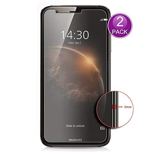 E-Hamii [2-Pack] Protector de Pantalla para Huawei Ascend G8, 9H Vidrio Templado Protectora, HD Proteger Película Anti-Scratch y Anti-Huella Digital (Nota: no Cobertura Completa)