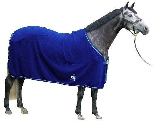 RTS - Leichte Fleece Abschwitz Paradedecke, royal-blau, 135 cm, 4068-165-135