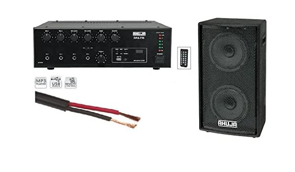 Ahuja Combo 30w Amplifier With Usb Remote And 50w Amazon In