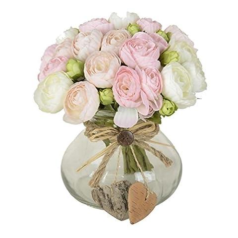 10Têtes de Fleurs Artificielles Thé Bud pour la maison et de mariage sans Vase & Panier, 1pièce de la fleur, 4couleurs - Delphinium Vaso