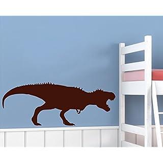 arslinea Wandtattoos - Dino Alarm, 100x38 cm, dunkelrot