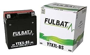 Batterie FULBAT AGM YTX7L-BS 12V 6Ah 85A Longueur: 113 x Largeur: 70 x Hauteur: 130 (mm)