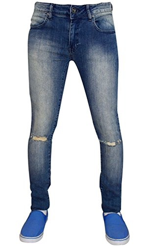 True Face Mens TRF044-VENS Stretchable Ripped Jeans