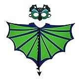 ParZ Kids Dinosaur Wings Disfraz y máscara de Fieltro para niños Chicas Dragon Cape Dress Up Juegos de Fiesta