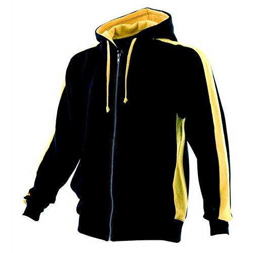 FINDEN Hales Full Zip Hoodie - Black/ Yellow - XL