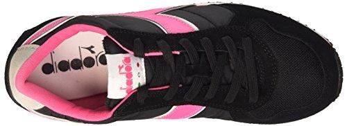 Diadora K_run, Sneaker Unisexe - Limonade Noire / Rose Pour Adulte