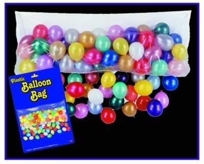 (Kunststoff Ballon Drop Bag 3Ft X 6Ft-8in Pkg of 12 weiß transparent)