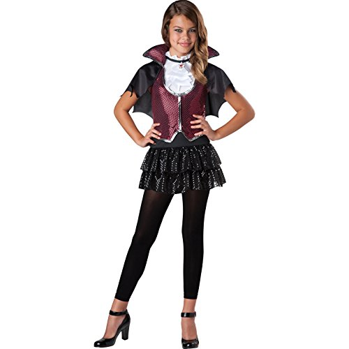 Deluxe Tween Mädchen Teen glampiress Vampir Countess Halloween (Incharacter Halloween Kostüme)
