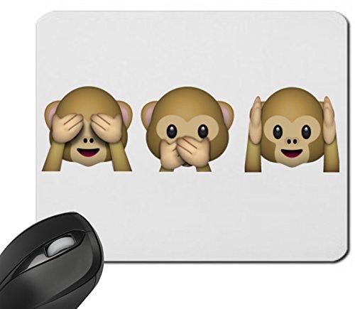 """Preisvergleich Produktbild Mauspad """"Nichts-Böses-Sagen-Sehen-Hören Affen Hoch"""" Drei 3 Affen aus Keramik, Smiley, Emoji, Deko, Kult, Kaffeetasse, Teetasse, IPhone, Emoticons."""