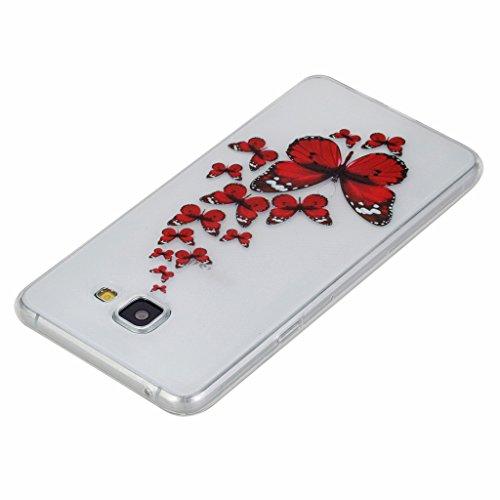 Qimmortal(TM) Custodia protettiva ultra sottile in silicone TPU morbido e flessibile di alta qualità, per Huawei P9, protezione per lo schermo in vetro temperato, con design stampato alla moda, silico Butterfly