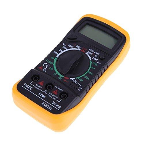 MagiDeal Multímetro Eléctrico Medidor Probador Digital Tensión Circuito XL830L AC DC OHM