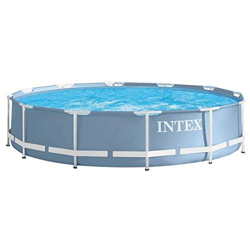"Intex 28710 ""PRISM"" Aufstellpool Frame Pool Set Rondo, ohne Filterpumpe, blau, Ø 366 x 76 cm"