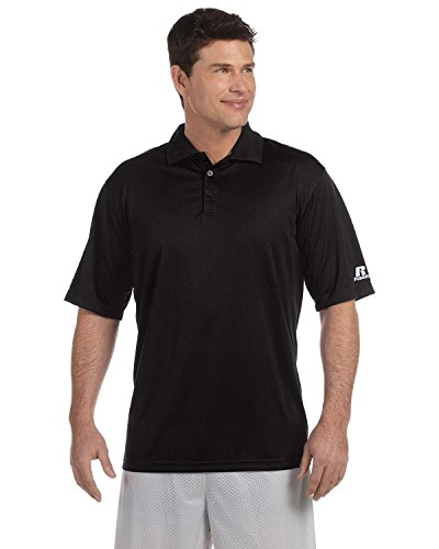 Russell Athletic Team Essential Polo 833 GHM Gr. Small, schwarz (Dri-power-polo)
